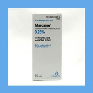Marcaine .25% Plain 50ml local anesthetic, Marcaine