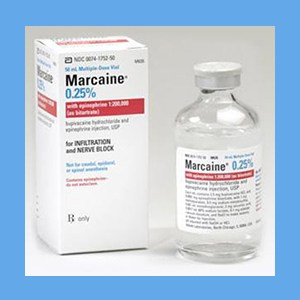 Marcaine .25% with Epinephrine 50ml anesthetic, numbing, Marcaine