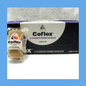 "CoFlex Tan Bandage 4"" latex, bandage, cohesive, light compression wrap"