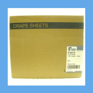 """Disposable Drape Sheets, Plastic Lined, 30"""" x 48"""" drape sheets, plastic lined, disposable"""