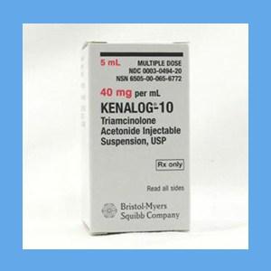Kenalog, 40mg/ml 5 ml Kenalog 40 mg/ml, triamcinolone acetonide, gluco-corticosteroid