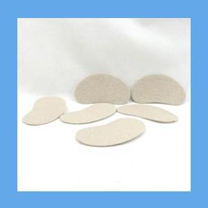 "Moleskin Kidney Pads, Adhesive Backed 3"" moleskin, pads, kidney, adhesive, reduces friction"