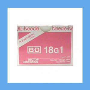 """BD Disposable Needles 18g x 1"""" needles, disposable, stainless steel, BD"""
