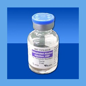 Dehydrated Alcohol Injection, 5 mL  Dehydrated, Alcohol, Injection