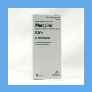 Marcaine .5% Marcaine 10 ml. preservative -free single dose vial Marcaine .5% 10 ml. Preservative -Free Single Dose Viial