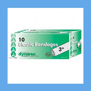 """Dynarex Elastic Bandage With Clip Closure 3""""in x 4.5 YDS (Stretched)"""