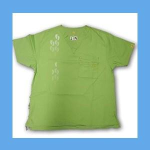 Wonder Wink Scrub Top Neo Matrix I Green Apple Unisex (MEDIUM) OVERSTOCK Scrubs Top Neo Matrix I Green Apple