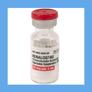 Kenalog, 40mg/ml 1 ml Kenalog 4 mg/ml, triamcinolone acetonide, gluco-corticosteroid