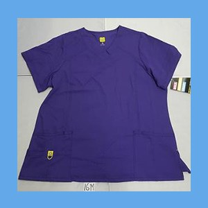 Wonder Wink Scrub Top Plus Curved V-Neck Deep Purple (EXTRA LARGE) OVERSTOCK WONDERWINK PLUS CURVED V-NECK TOP IN DEEP PURPLE
