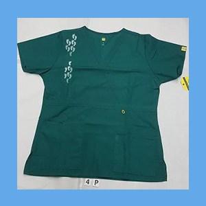 Wonder Wink Scrub Top Neo Matrix I Hunter Green (MEDIUM) OVERSTOCK Scrubs Top Neo Matrix I Hunter Green