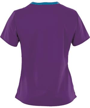 Wonder Wink Scrub Top Wonder Flex V-Neck Electric Violet (2XL) OVERSTOCK WONDERWINK WONDERFLEX VERITY V-NECK TOP IN ELECTRIC VIOLET