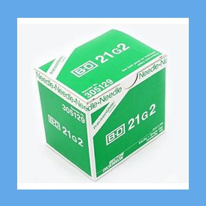 "BD PrecisionGlide Needle, Regular Bevel, Sterile  21G x 2"" BD PrecisionGlide Needle, 21G x 2"", Regular Bevel, Sterile"