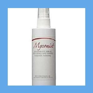 Mycomist Sanitizer Fungicidal Foot Spray  spray foot powder, soothes feet, pleasant scent