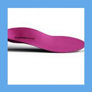Superfeet Womens Original Full Length Insole BERRY  orthotics, cushion, flexibility, footwear, Superfeet