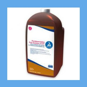 Dynarex Povidone Iodine Solution, Gallon bottle antiseptic, povidone, iodine, solution