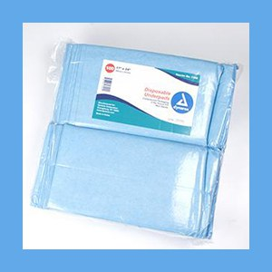 """Dynarex Underpads Poly-Back, Compressed Packaging  Most Absorbent Fluff Fill 17"""" x 24"""" Underpads Poly-Back, Compressed Packaging Absorbent Fluff Fill 17"""" x 24"""""""