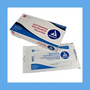 "Dynarex Self Seal Sterilization Pouch, 7 1/2"" x 13"" - 200/Box sterilization pouches, self-sealing"